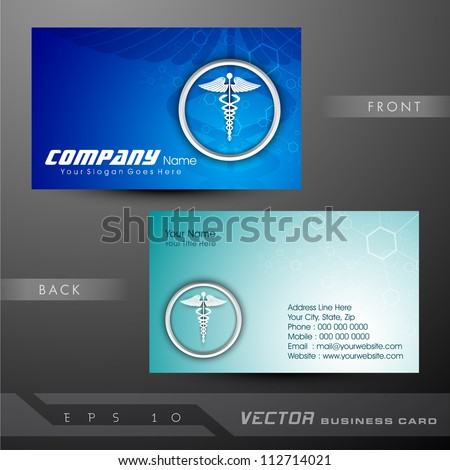 Medical business cards visiting card eps stock vector royalty free medical business cards or visiting card eps 10 reheart Image collections