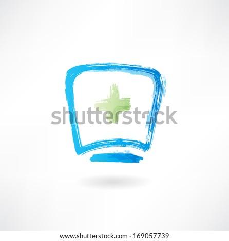 medical cap icon - stock vector