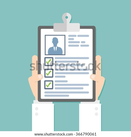 Medical card. Flat style - stock vector