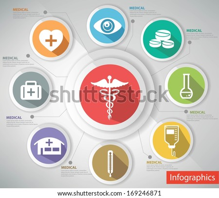 Medical concept,abstract,Colorful version,vector - stock vector