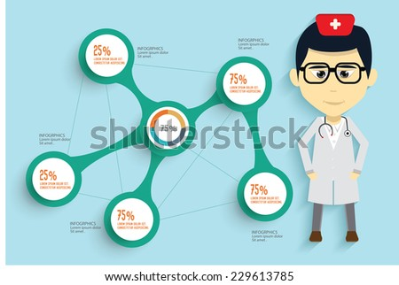 Medical concept and button for your text editable,clean vector - stock vector