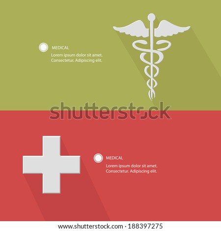 Medical concept for text,Green & Pink version,vector - stock vector