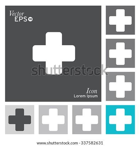 Medical cross icon - vector, illustration. - stock vector