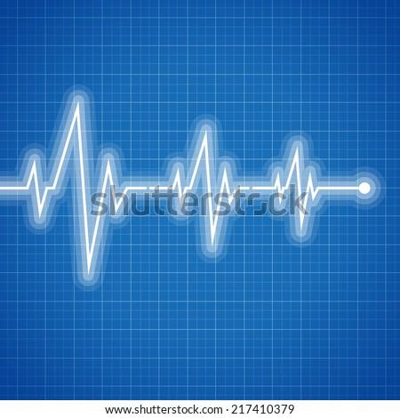 Medical design -  cardiogram - stock vector