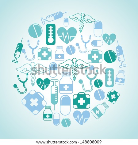 medical design over blue background vector illustration   - stock vector