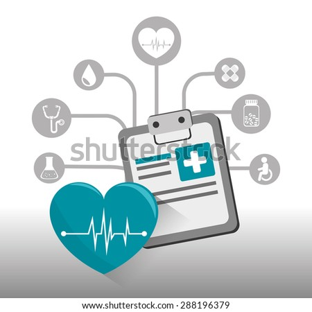 Medical design over white background, vector illustration.