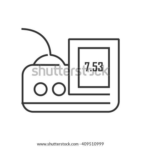 Medical Device Icon, digital monitor - stock vector