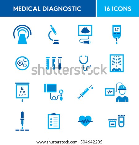 diagnostics stock images royalty images vectors shutterstock medical diagnostic vector icon set medicine test signs in flat style clinical health care