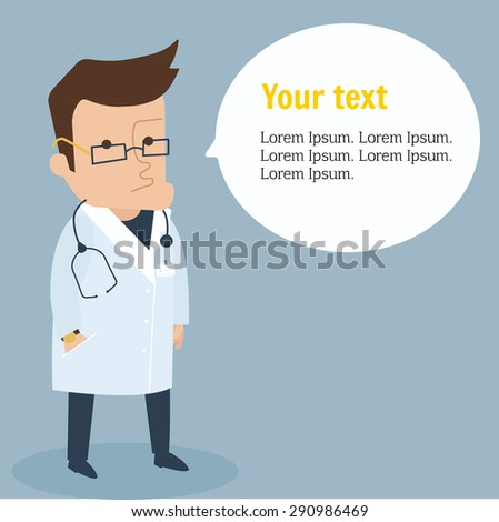Medical doctor character vector illustration - stock vector