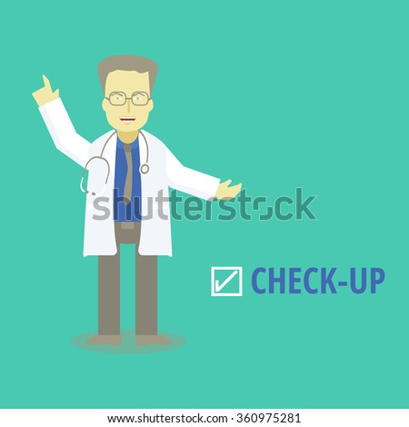 Medical doctor check up. vector illustrations