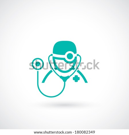 Medical doctor icon - vector illustration - stock vector