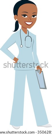 Medical doctor nurse girl - MOre on this collection - stock vector