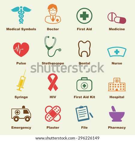 medical elements, vector infographic icons - stock vector