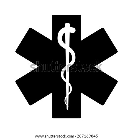 Medical emergency flat icon for app and website - stock vector