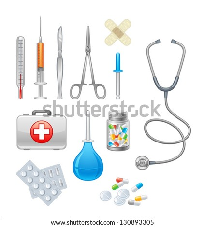 Medical equipment - stock vector