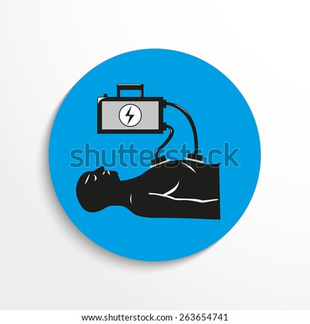 medical equipment flat icon illustration background