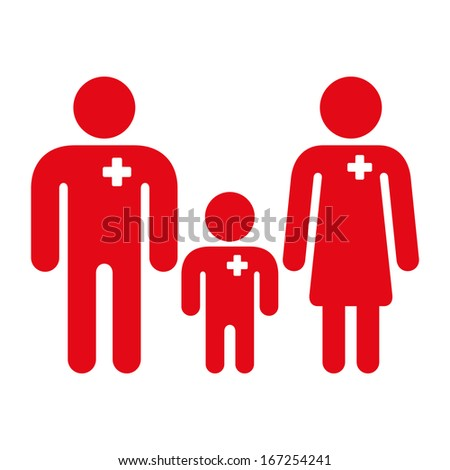 Medical family icon - stock vector