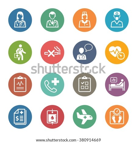 Medical & Health Care Icons Set 2 - Services | Dot Series  - stock vector