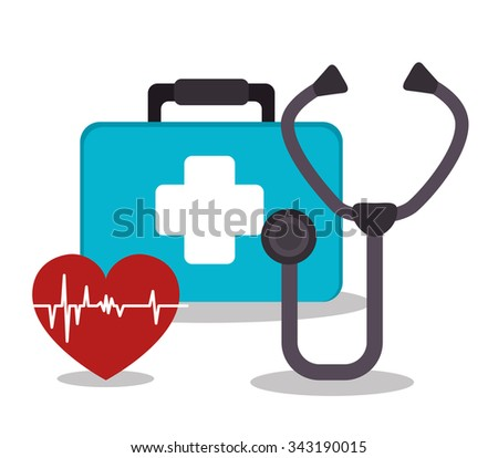 Medical healthcare graphic design with icons, vector illustration graphic