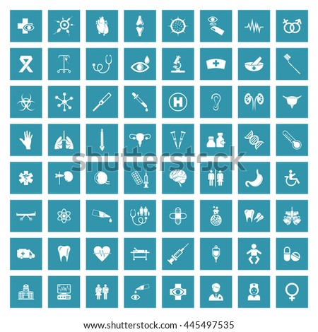 Medical & Healthcare Icon Set. Eps-10.