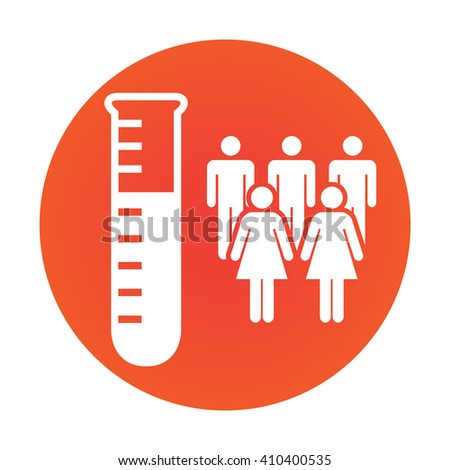 Medical Healthcare Icon with People Charting Disease or Scientific Discovery - stock vector