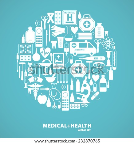 Medical icon background. - stock vector