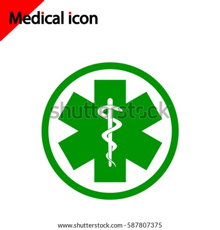 Medical Icon On White Background Red Stock Vector