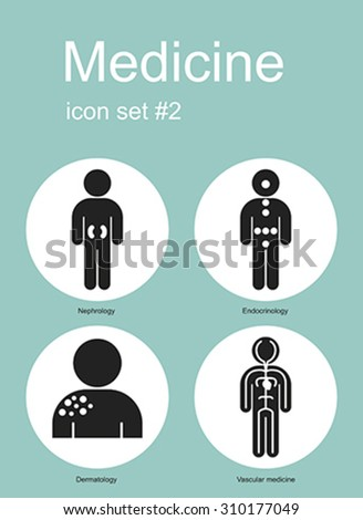 Medical icon set. Editable vector illustration.