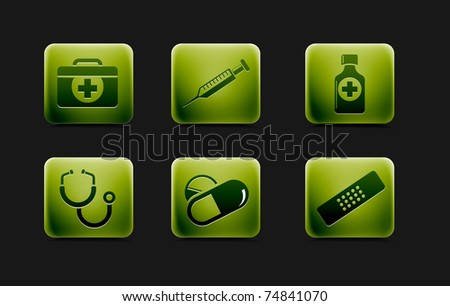 Medical icons and symbols vector set. - stock vector