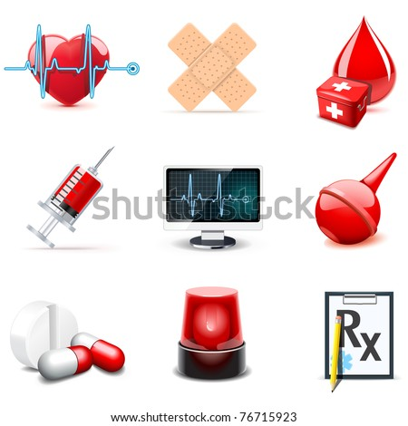 Medical icons | Bella series 1 - stock vector