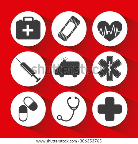 medical icons design, vector illustration eps10 graphic