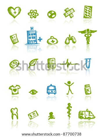 Medical icons for your design - stock vector