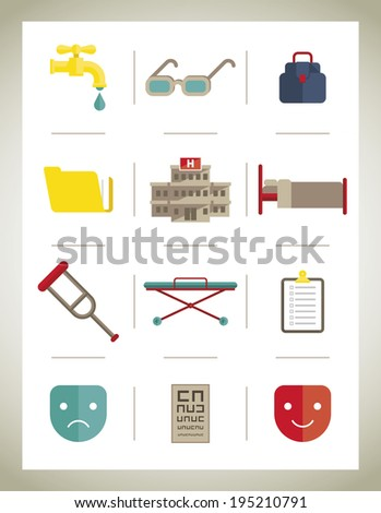 Medical icons isolate - vector illustration - stock vector