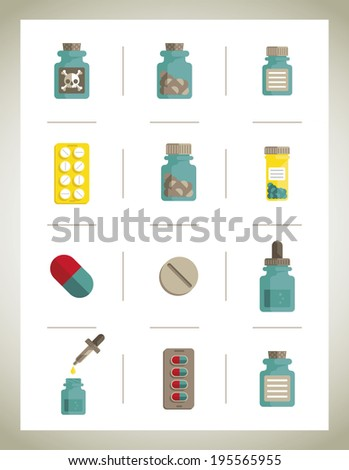 Medical icons isolate - vector illustration