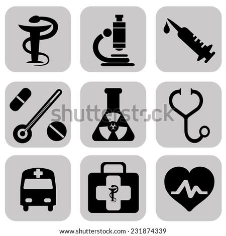 Medical Icons. Medical Icons Vector set. Medical Icons, Medical Icons Picture set. Medical Icons Image set. Medical Icons Shape set. Medical Icons. Medical Icons.  Medical Icons. Medical Icons - stock vector