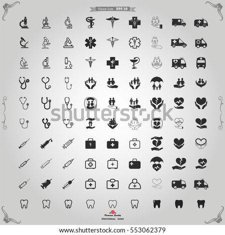Medical icons.  Medical, medical symbol, medical logo, icons, health icon, doctor icon