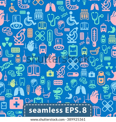 medical icons seamless.eps8.