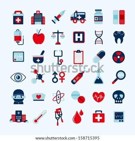 Medical icons set,  - stock vector