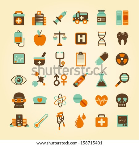 Medical icons set, . - stock vector
