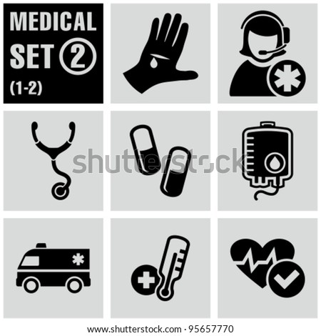 Medical icons set 2. - stock vector