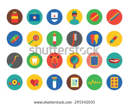 Medical Icons Set. Health and hospital symbols. Stock illustration. Interface elements.. - stock vector