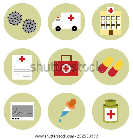 Medical icons set vector - stock vector