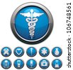 Medical icons set, vectors collection. - stock vector
