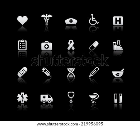 Medical Icons // Silver Series  - stock vector