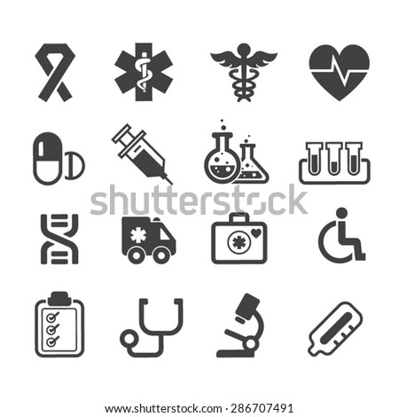 Medical Icons,Vector - stock vector