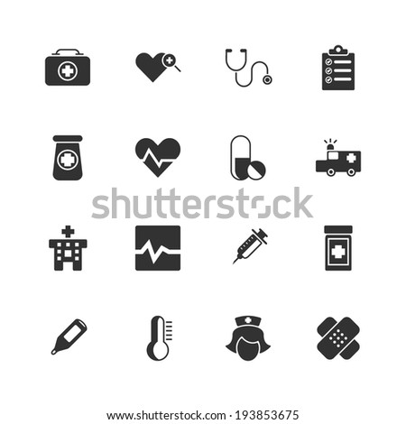 Medical Icons - Vector Graphic - stock vector