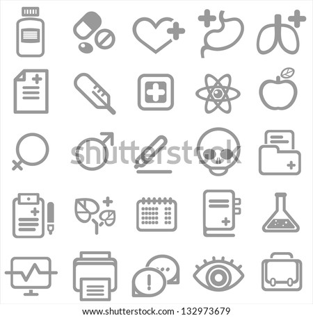 medical icons, vector illustration - stock vector