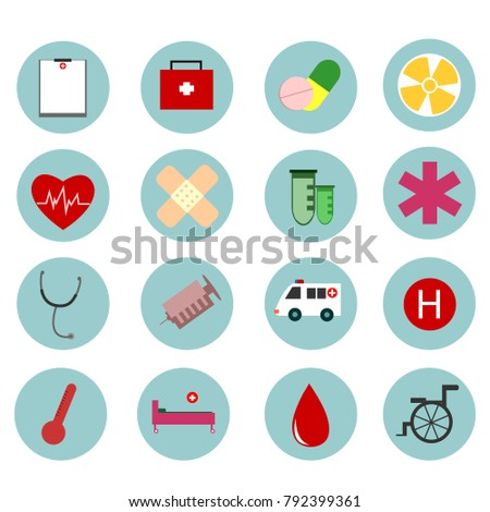 Medical icons.vector illustration