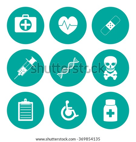 medical iconst. Flat design style eps 10 - stock vector