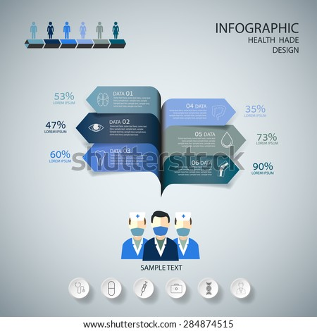 Medical Infographic Design set.  graphic or website layout vector. - stock vector